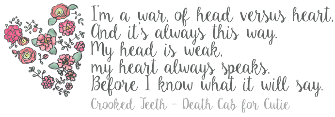 head vs heart death cab