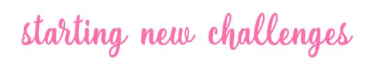 starting new