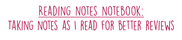 reading notebook