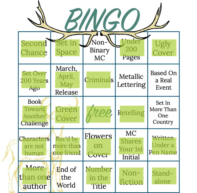 bingo card spring april