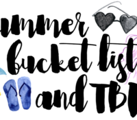 Summer 2016 Goals and TBR List