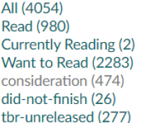 Reorganizing My Goodreads Shelves